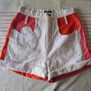 vintage// color-block shorts